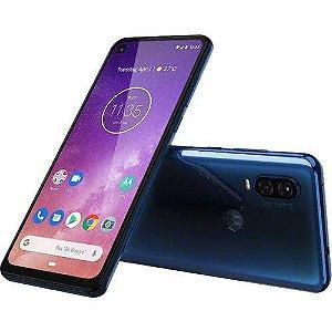 "Smartphone Motorola One Vision 128GB Dual Chip Android Pie 9.0 Tela 6,3"" 4G + Câmera 48+5MP - Azul Safira"