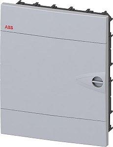 Quadro PVC Disjuntor Embutir sem Barramento 12 Disjuntores Branco