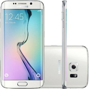 "Smartphone Samsung Galaxy S6 Edge Desbloqueado Vivo Android 5.0 Tela 5.1"" 64GB 4G 16MP"