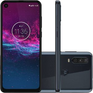 "Smartphone Motorola One Action 128GB Dual Android Pie 9.0 Tela 6.3"" Exynos 9609 (S925) 4G Câmera 12+5+16MP (Quad Pixe)"