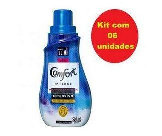 Kit 06 Amaciante de Roupa Comfort Intense Original - Concentrado 500ml