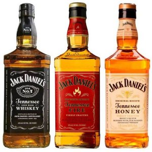 Kit Whisky Jack Daniels 1 Litro Honey - Fire - Old N7