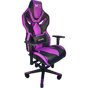 Cadeira Gamer  Mx9 Giratória Preto/Roxo