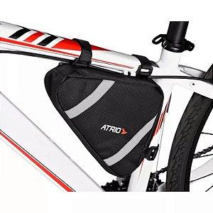 Bolsa de Quadro para Bicicleta Capacidade de 1,2L Resistente à Água Material em em Poliéster e PVC Preto Atrio - BI094
