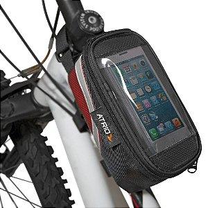 Bolsa Porta Celular Para Cano De Bicicleta Preto Atrio