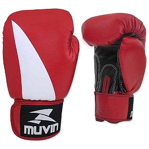 Luva de Boxe Bolt BX - 10oz - Preto/Vermelho - Muvin LVB-200