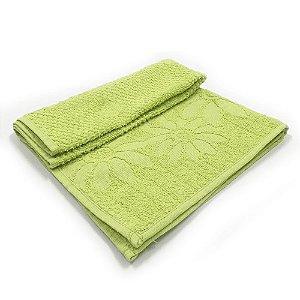 Toalha De Rosto Jacquard Luxo - Cor Verde Limão 49x68 cm