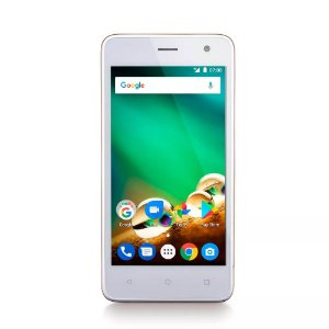 """Smartphone Multilaser MS45 4G 1GB Dourado Tela 4.5"""" Câmera"""