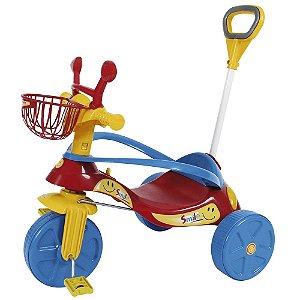 Triciclo Com Empurrador Smile Confort Elite Vermelho Biemme
