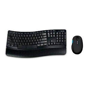 Teclado E Mouse Comfort Sem Fio Usb Preto Microsoft - L3V000