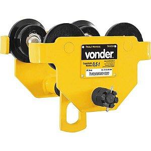 Trole manual 0,5 toneladas largura 50-152mm tm050 - Vonder