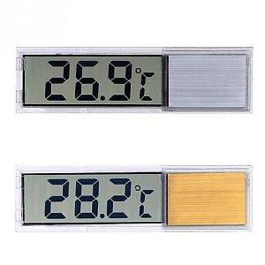 Termômetro Digital Luxo Com Sensor Tela Lcd 3d - Aquário - Terrário