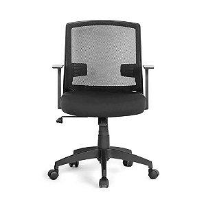 Cadeira Office Entrada Com Braços Fixos Preto Multilaser -