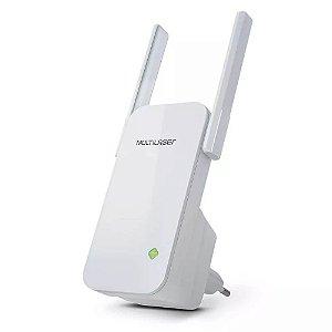 Repetidor 300Mbps 2 Antenas Externas Branco Multilaser - RE0