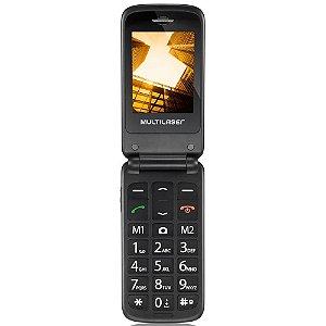 Celular Flip Vita Câmera Rádio MP3 Lanterna Botão SOS Dual