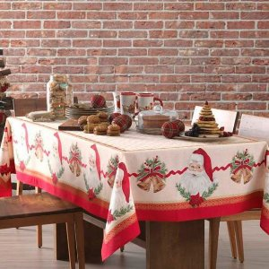Toalha de Mesa 1,40m x 1,40m Natal Karsten - Tempo de Abraçar
