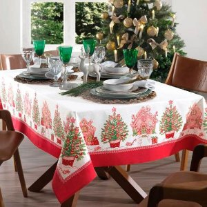 Toalha de Mesa 1,40m x 1,40m Natal Karsten - Tempo de Apreciar