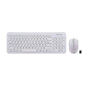 Teclado E Mouse Sem Fio 2.4 Ghz Multimídia Teclas Redondas