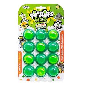 PopPops Slime Monster 12 Cápsulas + 4 Monstros Colecionáve
