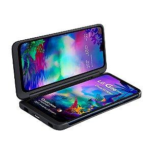 """Smartphone LG G8X Preto 128GB, 6GB RAM, Tela de 6,4"""" OLED, Dual Screen, Inteligência Artificial, Resistente a Impactos, Câmera dupla, Selfie de 32MP - 2 TELAS"""