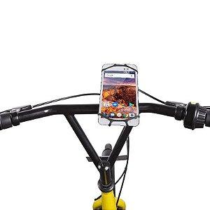 """Suporte De Guidão p/ Smartphone de 4"""" a 6"""" polegadas Rotaç"""
