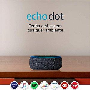 Assistente pessoal Echo Dot (3ª Geração): Smart Speaker com Alexa