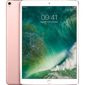 "iPad Pro 256GB Wi-Fi + 4G Cellular Tela 10,5"" Câmera 12MP Rose Gold - Apple"