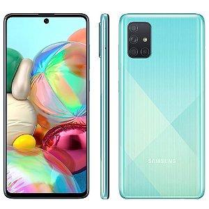 """Smartphone Samsung Galaxy A71 - 128GB, Tela Infinita de 6.7"""", Câmera Traseira Quádrupla, Leitor Digital na Tela, 6GB RAM e Processador Octa-Core"""