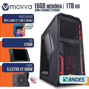 COMPUTADOR GAMER MVX7 INTEL I7 7700 3.6GHZ 7ª GER. MEM. 16G