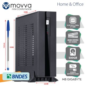 MINI COMPUTADOR INTEL I3-6100 3.7GHZ MB GIGABYTE H110TN-M ME