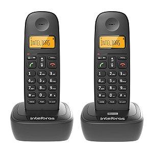 TELEFONE SEM FIO TS 2512 PRETO 2 UNIDADES (APARELHO + RAMAL)