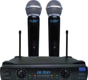 MICROFONE SEM FIO DE MAO UHF LS-902 HT/HT