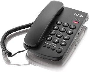 TELEFONE COM FIO - CHAVE DE BLOQUEIO - INDICAÇÃO LUMINOSA