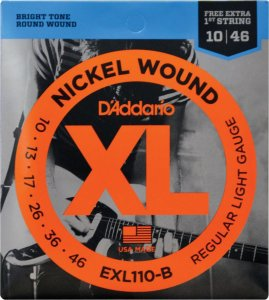 ENCORDOAMENTO PARA GUITARRA - EXL110-B 6 CORDAS REGULAR LIGH