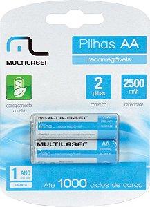 PILHA RECARREGAVEL AA 2500MAH CB053 - BLISTER COM 2