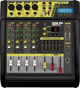 MESA DE SOM AMPLIFICADA  4 CANAIS 400W  COM MP3, ENTRADA USB