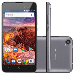 "SMARTPHONE MS50L 3G TELA 5"""" 8GB ANDROID 7.0 - GRAFITE"