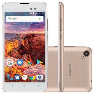 "SMARTPHONE MS50L 3G TELA 5"""" 8GB ANDROID 7.0 - DOURADO"