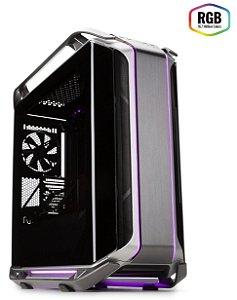 GABINETE COSMOS C700M - VIDRO TEMPERADO - ILUMINAÇÃO RGB -