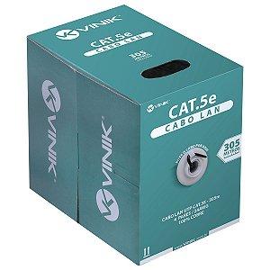 CABO LAN U/UTP CAT5E 24 AWG 4 PARES CAPA CMX  305M 100% COBR