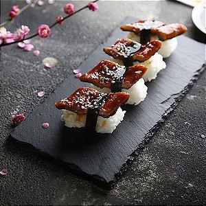 Placa de ardósia preta ardósia casa Japonês rocha display bandeja retangular prato de sushi