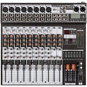 MESA DE SOM ANALÓGICA 12 CANAIS SX1202FX-USB