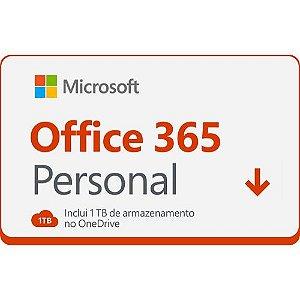 Gift Card Digital Microsoft Office 365 Personal com 1TB HD Virtual 12 Meses