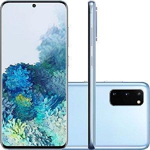 """Smartphone Samsung Galaxy S20, 128GB, 8GB RAM, Tela Infinita de 6.2"""", Câmera Tripla Traseira 64MP+12MP+12MP (UW), Câmera Frontal 10MP com Autofoco, IP68, Dual Chip, Leitor de Digital Ultrassônico, PowerShare, Android"""