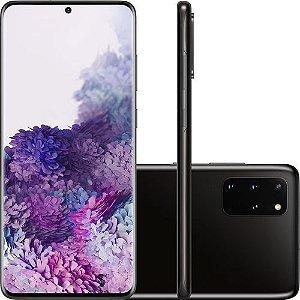 """Smartphone Samsung Galaxy S20+, 128GB, 8GB RAM, Tela Infinita de 6.7"""" Câmera Quádrupla 64MP+12MP+12MP (UW)+ToF, Câmera Frontal 10MP com Autofoco, IP68, Dual Chip, Leitor de Digital Ultrassônico, PowerShare, Android"""