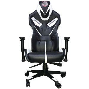 Cadeira Gamer Corinthians Giratoria Preto/branco - Mymax