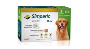 Simparic 80 Mg Cães 20 A 40kg Antipulgas C 3 Cpm Full Sj