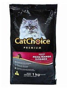 Ração para Gatos Cat Choice Premium Adulto Peixe/frango/fígado 1kg