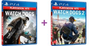 Combo Watch Dogs 1 e 2 - PS4