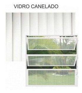 Janela Basculante De Aluminio Branco 3 Vitrôs - 60x60cm